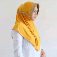 BUY 1 GET 1 Jilbab Serut Kombinasi Hijab Instan 2 Warna