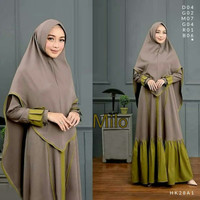 Aresya Gamis Set Syarii Dress Muslim Khimar - Milo