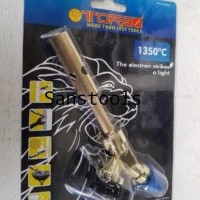 * Gas Torch Kuningan Tora Blow Lamp Alat Las Pipa Ac Portable Hi Cook