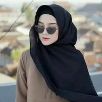 Jilbab Pashmina Hitam Terbaru Fashion Muslim Termurah