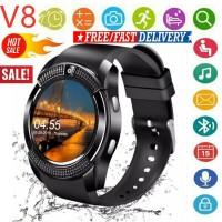 V8 Smart Watch SIM Phone Bluetooth Camera GPS For Samsung iphone iOS