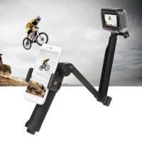 3 Way Monopod Selfie Pole Stick Camera Tripod Mount For GoPro Hero 5