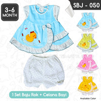 Setelan Baju Rok + Celana Bayi Cewek SBJ-050 Pakaian Bayi Perempuan