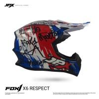 JPX FOX1 FULL FACE X6 PEARL WHITE/BLUE