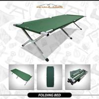 VELBED I MEJA LIPAT OUTDOOR CAMPING DHAULAGIRI FOLDING BED hijau