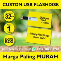 Flashdisk kartu 32GB usb kartu Id Card Custom Print 1 sisi