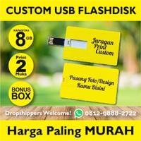 Flashdisk kartu 8GB, usb kartu, usb Id Card Custom Print 2 sisi