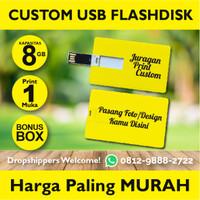 Flashdisk kartu 8GB usb kartu Id Card Custom Print 1 sisi