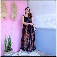 Long Dress Lobek / Long Dress Bali / Dress Murah / Grosir Daster Bali - Hitam