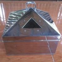 kukusan / klakat steamer kotak uk 45 cm stainless