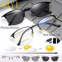 Kacamata Kesehatan Photocromic Anti Radiasi Pria Wanita blue Ray