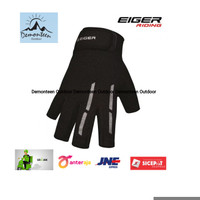 Sarung Tangan Motor New Eiger Original Daily Riding Glove Half Black