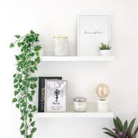 Floating Shelf / Rak Dinding / Rak Buku Minimalis 2 Buah [40x15cm]