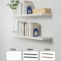 Promo 2 Buah Rak Buku / Rak Dinding Ambalan Minimalis [80x16cm]