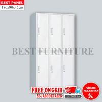 Best Locker Filing Cabinet Stainless Besi Anti Banjir 6 Pintu 45x90cm