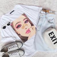 Tumblr Tee / T-Shirt / Kaos Wanita Lengan Panjang LALISA TOP