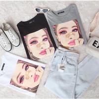 Tumblr Tee/T-Shirt/Kaos Wanita Lengan Pendek LALISA TOP - ELIIPSES.INC
