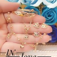 xuping set perhiasan anak lapis emas 24k 3m17