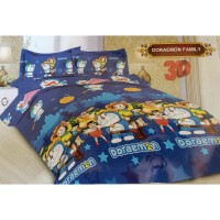 Bad Cover Set Bonita 180x200-Motif Doraemon-Bed Cover Kasur