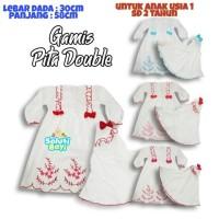 Gamis Bayi Perempuan Hijab Akikah Putih 2 Pita