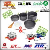 Paket Alat Masak Cooking set / Nesting DS 301 & Kompor Outdoor Kovar