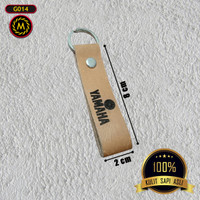 G014 - Gantungan Kunci, Grafir Costum, Kulit Asli