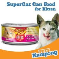 Makanan kucing kecil kaleng Supercat Kitten 160gr
