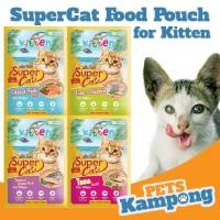 Makanan kucing basah Supercat Kitten Pouch 85gr