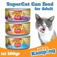 Makanan kucing dewasa kaleng Supercat Adult 160gr
