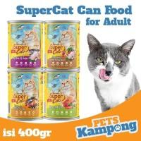 Makanan kucing kaleng Supercat Adult 400gr