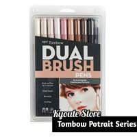 Tombow ABT Dual Brush Potrait Series Set Pack Brush Pen Lettering