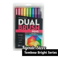 Tombow ABT Dual Brush Bright Series Set Brush Pen Lettering Kaligrafi