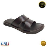 Sandal levis pria bahan kulit asli sandal flat model selop 002