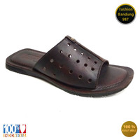 Sandal levis pria bahan kulit asli sandal flat model selop 001