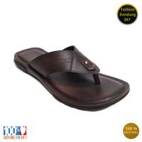 Sandal levis pria bahan kulit asli sandal full kulit model japit 006