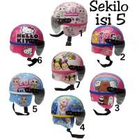 helm anak karakter lol - hk - poni - sum sum - barbie