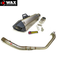 KNALPOT RACING AKRAPOVIC IMPORT FOR R15V3 MT15 CBR150R VIXION GSX R150