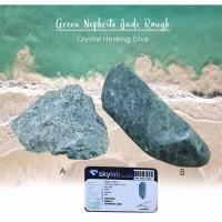 Crystal Healing Giok Green Nephrite Jade Stone (BC116)