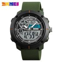 Jam Tangan Pria Dual Time SKMEI 1361 Sport Original Anti Air - ARMY