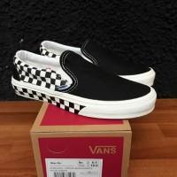 Sepatu Vans Slip On Sidewall Black White Premium BNIB