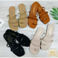 Sandal wanita sendal flat flip flop jepit teplek daff 30