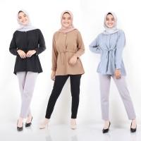 Baju Atasan Wanita Carzon Shirt Tunik Blouse Baju Muslim