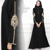 Abaya Gamis Arab Hitam Bordir Xena (Busui)