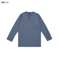 Worth ID Tshirt Light Blue Button Longsleeve