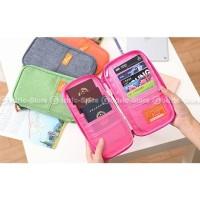 Hot Produk P.Travel Korean Fabric Passport Cover Wallet Card Holder