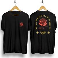 Kaos Rose Distro Slimfit / Baju Distro Pria Keren Grosir Murah