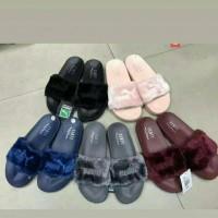 Terpopuler ! Sandal Bulu Bulu Fenty Puma / Sandal Rumah / Sandal