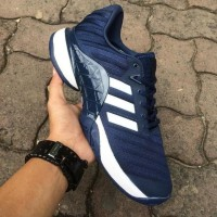 Sepatu Tennis Adidas Barricade Boost Navy White