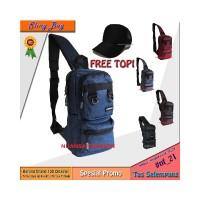 FREE TOPI Tas Selempang Sling Bag Dada CARBONI Original Produk