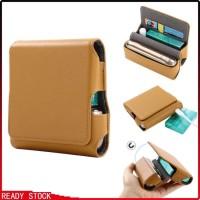 Kotak Case Magnetik Bahan Kulit PU untuk Rokok Elektrik iqos3.0 denga